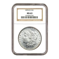 1878-CC $1 Morgan Silver Dollar NGC MS63