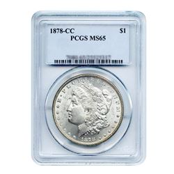 1878-S $1 Morgan Silver Dollar PCGS MS65
