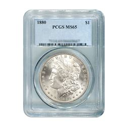 1880 $1 Morgan Silver Dollar PCGS MS65
