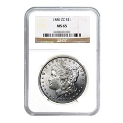 1880-CC $1 Morgan Silver Dollar - NGC MS65
