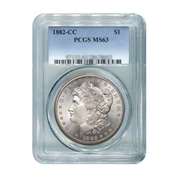 1882-CC $1 Morgan Silver Dollar - PCGS MS63