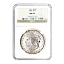 1882-S $1 Morgan Silver Dollar - NGC MS66