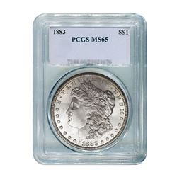 1883 $1 Morgan Silver Dollar - PCGS MS65