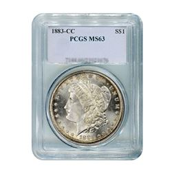 1883-CC $1 Morgan Silver Dollar - PCGS MS63