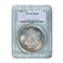 1884-CC $1 Morgan Silver Dollar - PCGS MS63