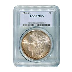 1884-CC $1 Morgan Silver Dollar - PCGS MS64