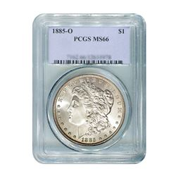 1885-O $1 Morgan Silver Dollar - PCGS MS66