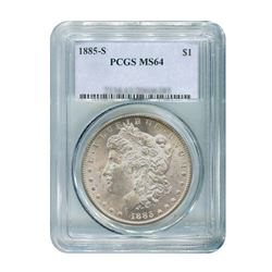 1885-S $1 Morgan Silver Dollar - PCGS MS64