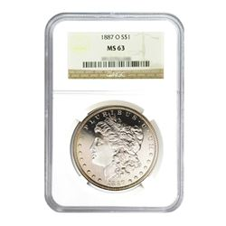 1887-O $1 Morgan Silver Dollar - NGC MS63