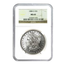 1888-O $1 Morgan Silver Dollar - NGC MS65