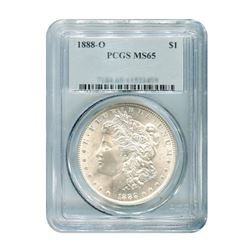 1888-O $1 Morgan Silver Dollar PCGS MS65