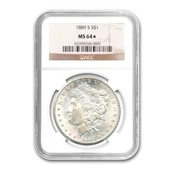 1889-S $1 Morgan Silver Dollar NGC MS64