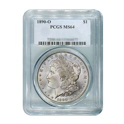 1890-O $1 Morgan Silver Dollar - PCGS MS64