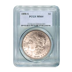 1890-S $1 Morgan Silver Dollar - PCGS MS64