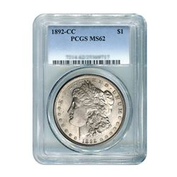 1892-CC $1 Morgan Silver Dollar - PCGS MS62