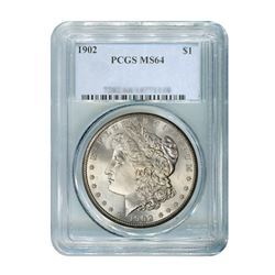 1902 $1 Morgan Silver Dollar - PCGS MS64