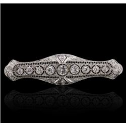 14KT White Gold 2.47ctw Diamond Brooch