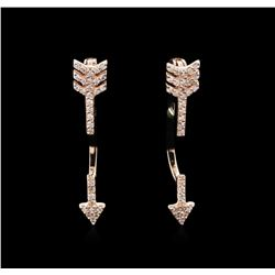 0.30ctw Diamond Earrings - 14KT Rose Gold