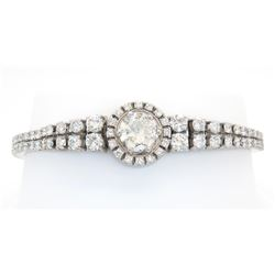 8.65ctw Diamond Bracelet - 18KT White Gold