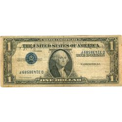 U.S. Series 1935 Inverted Overprint $1 Silver Certificate Bank Note