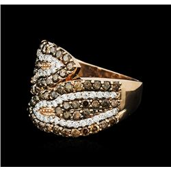 14KT Rose Gold 1.84ctw Diamond Ring