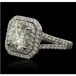 14KT White Gold 3.99ctw Diamond Ring