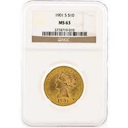 1901-S NGC MS63 $10 Liberty Head Eagle Gold Coin