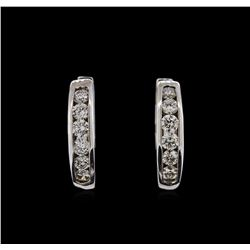 0.62ctw Diamond Earrings - 14KT White Gold