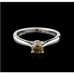 14KT White Gold 0.71ct Round Cut Fancy Brown Diamond Solitaire Ring