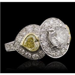 Platinum and 18KT Two-Tone Gold 5.15ctw Diamond Ring