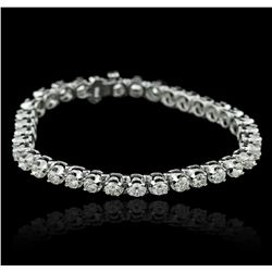 14KT White Gold 7.03ctw Diamond Tennis  Bracelet