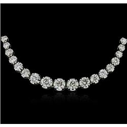 18KT White Gold 11.66ctw Diamond Necklace