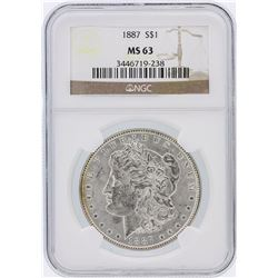 1887 NGC MS63 Morgan Silver Dollar