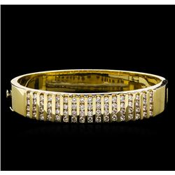 4.20ctw Diamond Bangle Bracelet - 14KT Yellow Gold