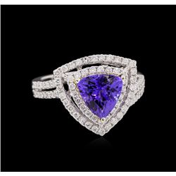 14KT Two-Tone Gold 2.25ct Tanzanite and Diamond Ring