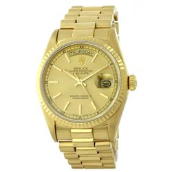 Rolex 18KT Yellow Gold President DayDate Men's Watch