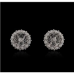 14KT White Gold 0.74ctw Diamond Earrings