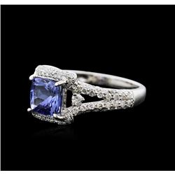 14KT White Gold 1.44ct Tanzanite and Diamond Ring