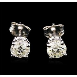 1.26ctw Diamond Stud Earrings - 14KT White Gold