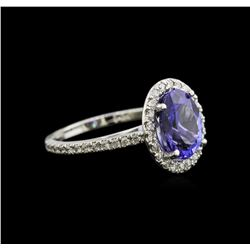2.65ct Tanzanite and Diamond Ring - 14KT White Gold
