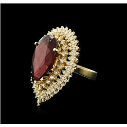 14KT Yellow Gold 15.72ct Ruby and Diamond Ring