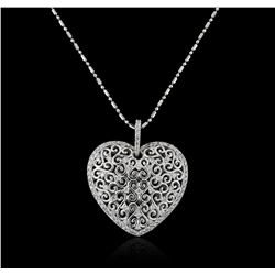 14KT White Gold 0.82ctw Diamond Pendant With Chain