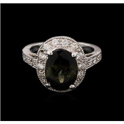 4.03ct Tourmaline and Diamond Ring - 14KT White Gold