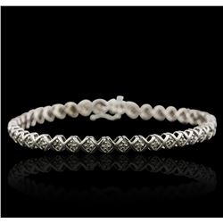 10KT White Gold 0.40ctw Diamond Bracelet