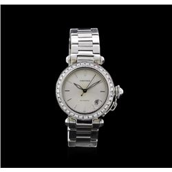 Cartier Stainless Steel 2.00ctw Pasha C Watch