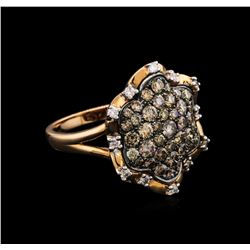 1.32ctw Brown Diamond Ring - 14KT Rose Gold
