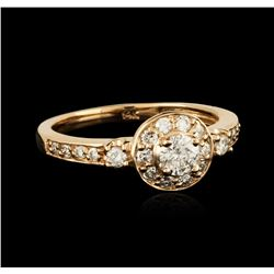14KT Rose Gold 0.69ctw Diamond Ring