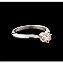 14KT White Gold 0.41ct Round Diamond Solitaire Ring