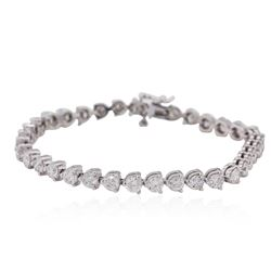14KT White Gold 7.60ctw Diamond Tennis  Bracelet