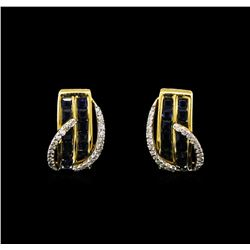 2.27ctw Sapphire and Diamond Earrings - 14KT Yellow Gold